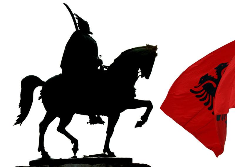 Albania, Tirana, monumento a Skandemberg