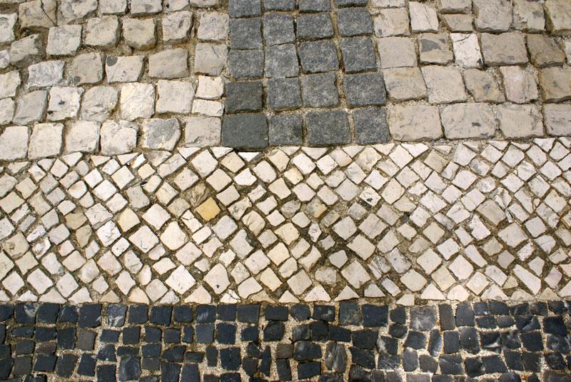 Lisbona, mosaico di pietre