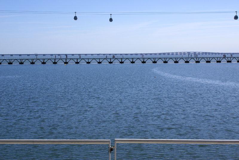 Lisbona, Parco delle Nazioni e fiume Tago