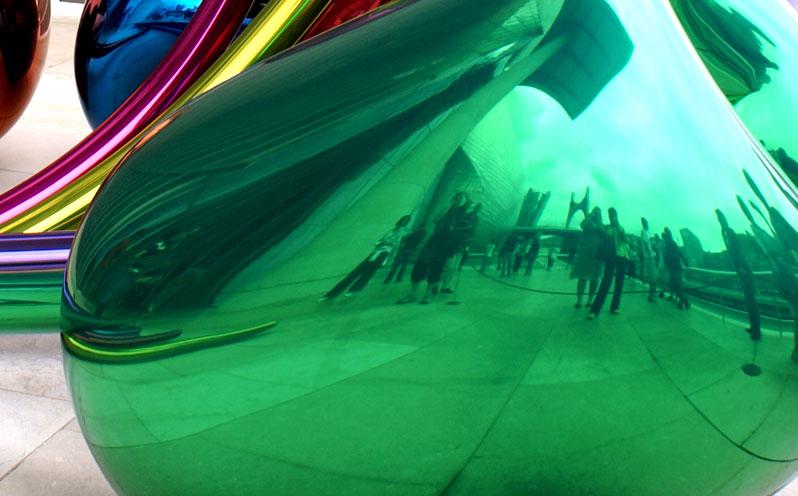 Bilbao '08 , Guggenheim, Tulipani di Jeff Koons