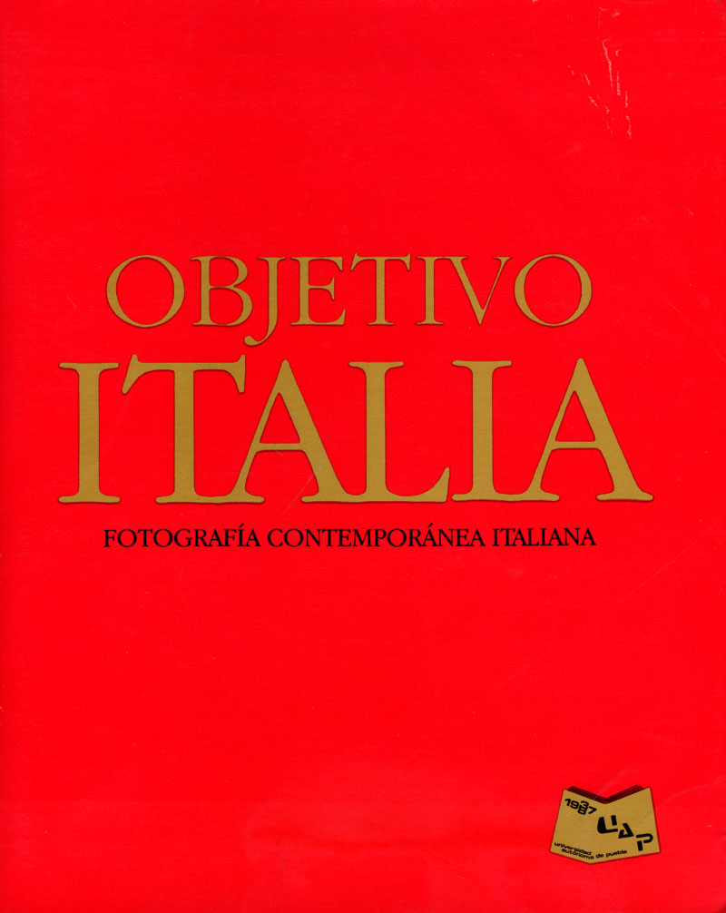 """Mostra """"Objectivo italia"""", copertina del catalogo"""