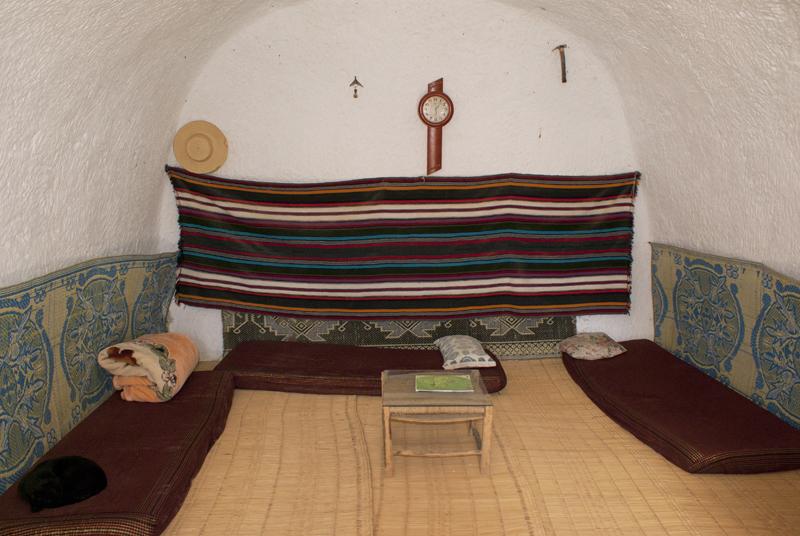 Matmata, interno di un'abitazione troglodita