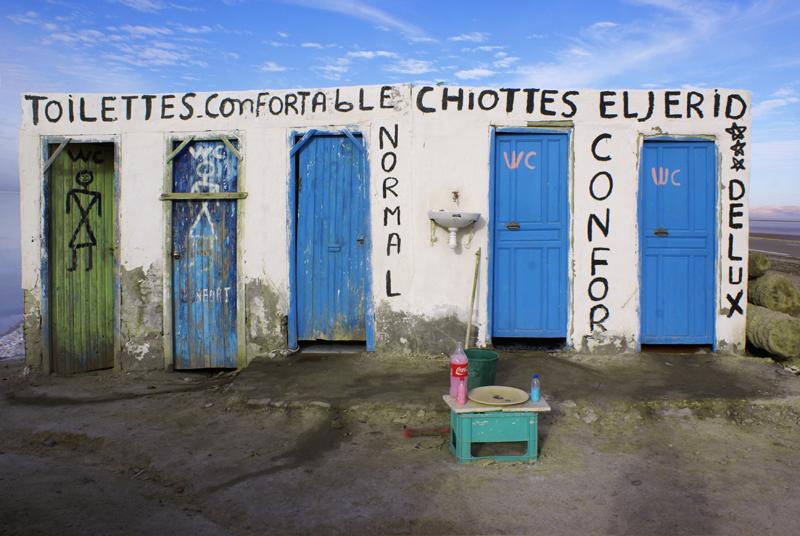 Toilettes a Chott El Jerid, Tunisia
