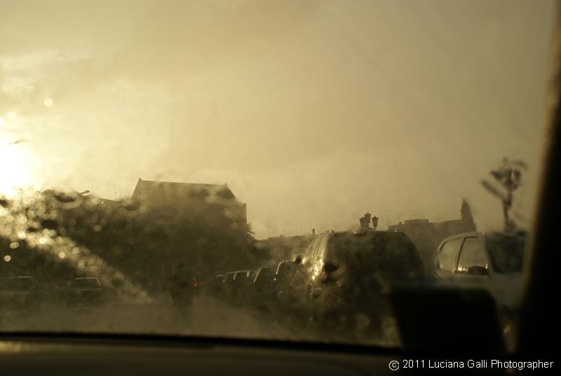 Bari, pioggia sul Lungomare, 2011