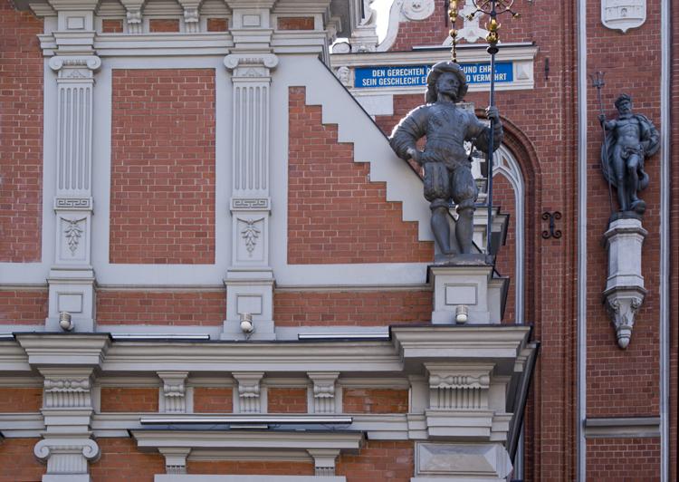 Riga, palazzo delle Teste Nere, particolare