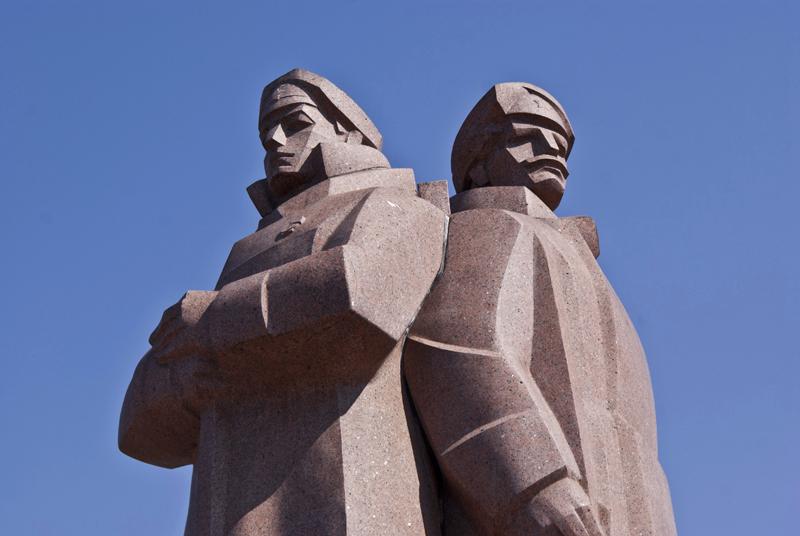 Riga, memoriale dei fucilieri lettoni