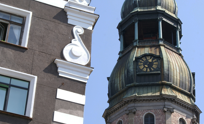 Riga, chiesa di San Pietro, scorcio del campanile
