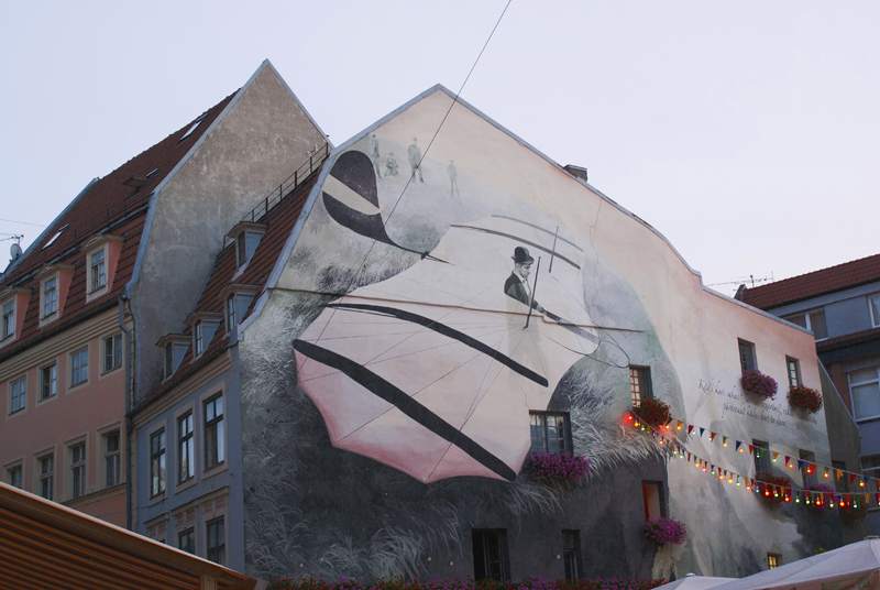 Riga, murale