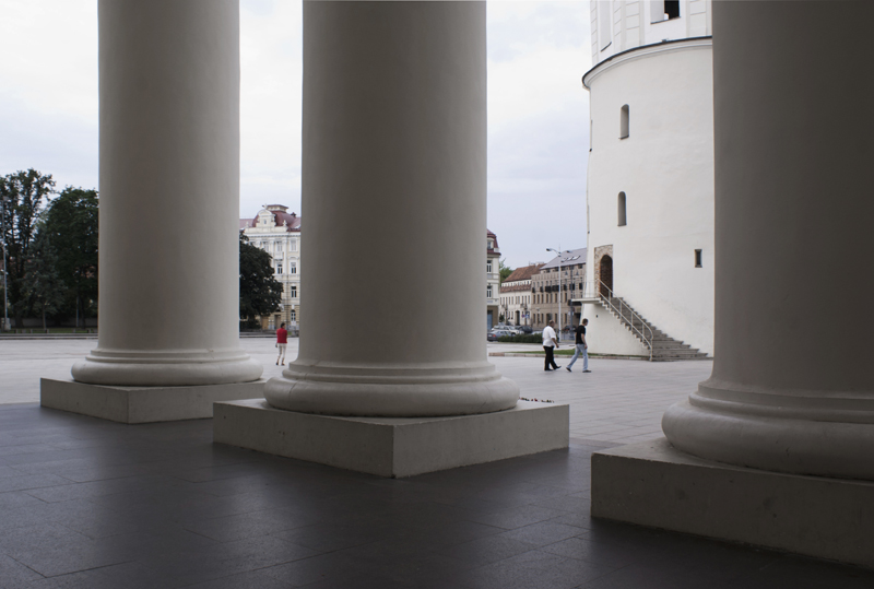Vilnius, Lituania, cattedrale della Santissima Trinità e di San Stanislao e San Ladislao col campanile
