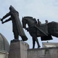 Vilnius, Lituania, monumento a Gediminas