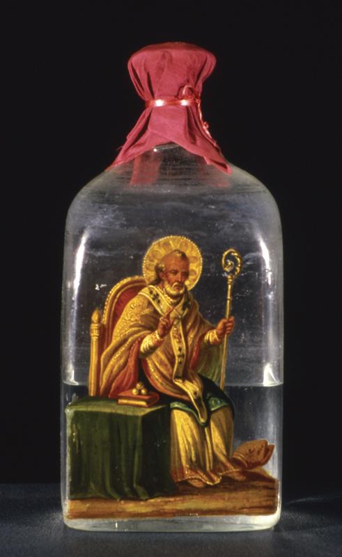 Bottiglia con la santa Manna '89
