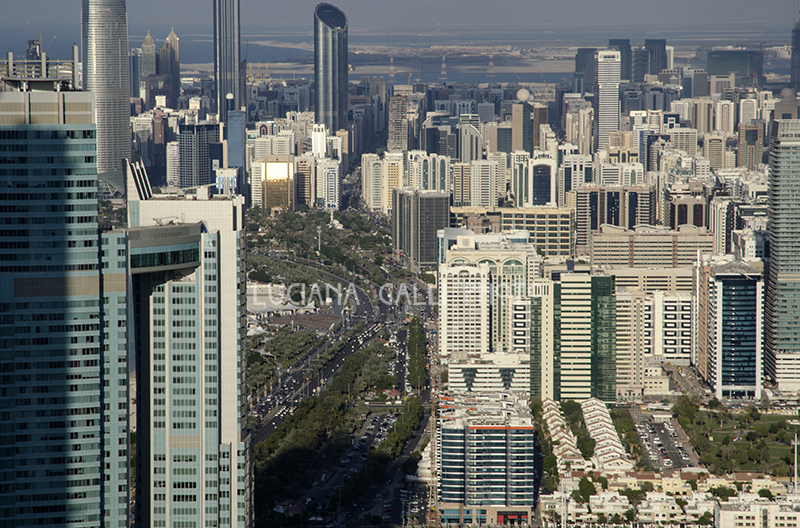 Abu Dhabi, panorama dalle Etihad Towers