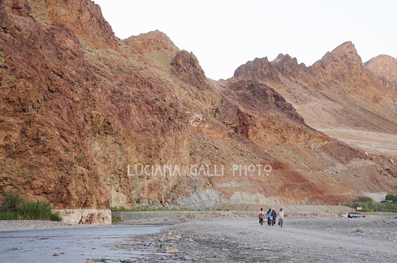 Wadi nel territorio di Mascat