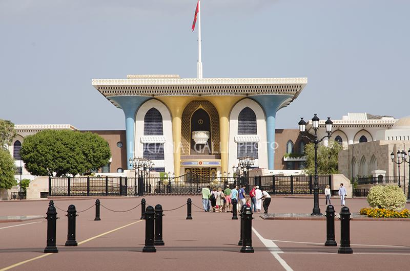 Mascat ,palazzo Al Alam, residenza del Sultano